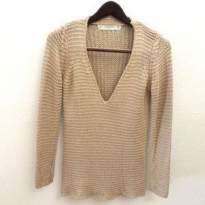 Zara Knit V Neck Sweater